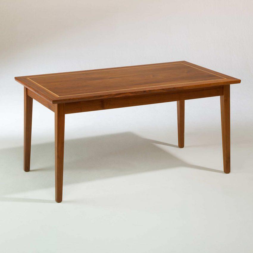 LIGNUM Biedermeier Tisch in Schwarznuss, Intarsie in Ahorn