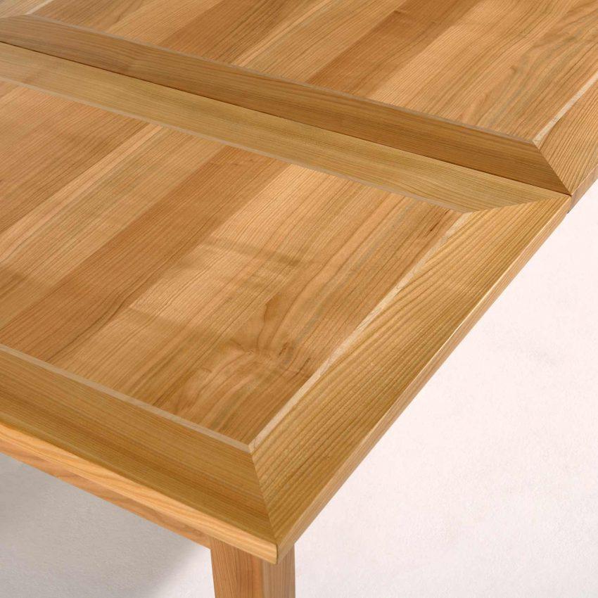 LIGNUM Biedermeier Tisch in Kirschbaum, Intarsie in Ahorn, Detail Auszug