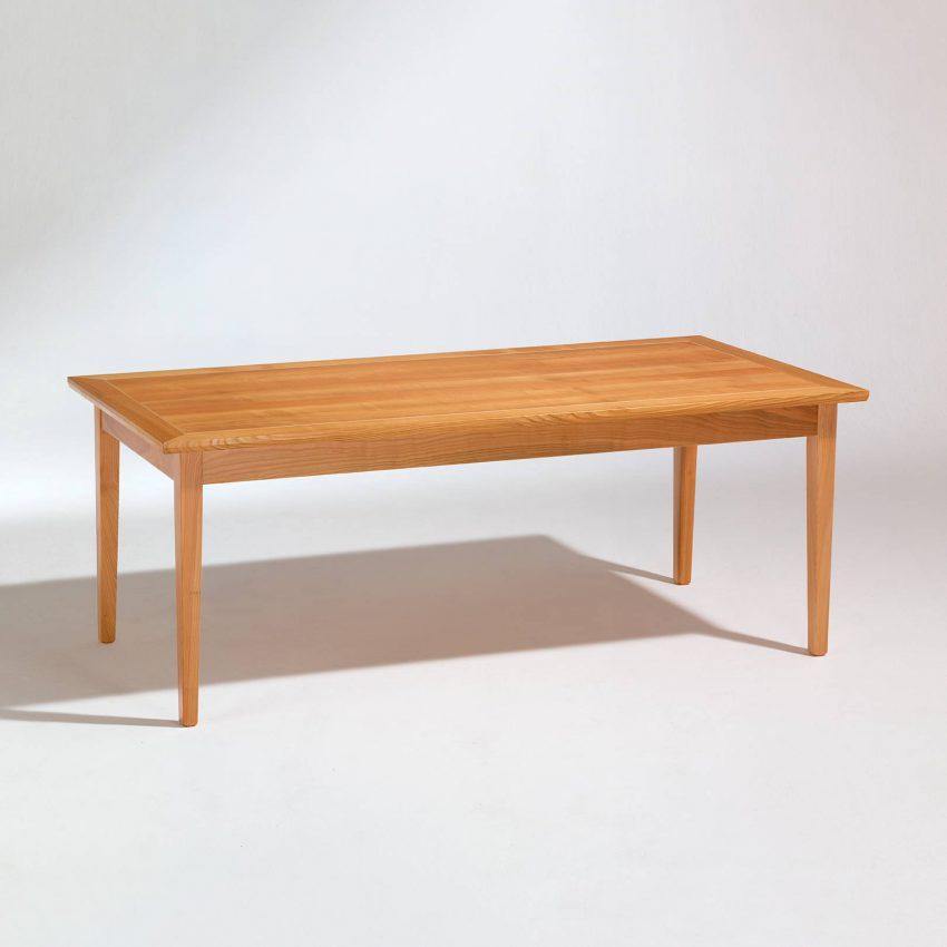 LIGNUM Biedermeier Tisch in Kirschbaum, Intarsie in Ahorn, nicht ausgezogen