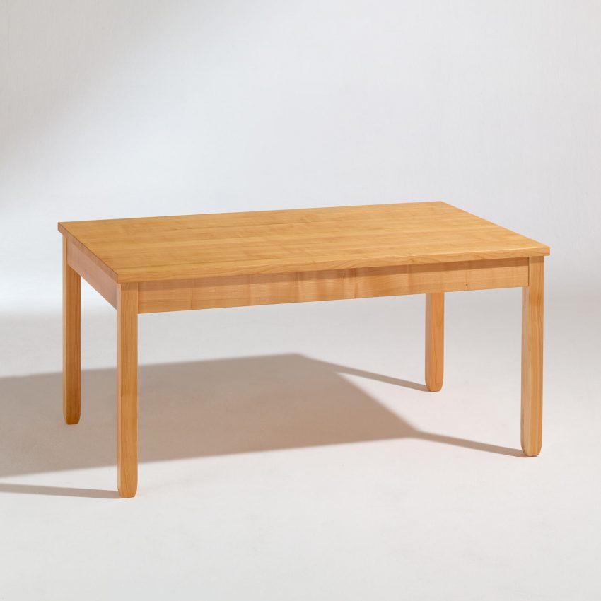 LIGNUM Esstisch mit Auszug in Kirschbaum, Beine verjüngt, nicht ausgezogen