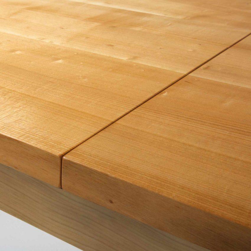 LIGNUM Esstisch mit Auszug in Kirschbaum, Beine gerade, Detail